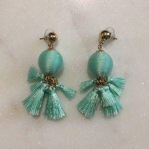 BaubleBar Jewelry - Sugarfix by Baublebar Teal Tassel Earrings